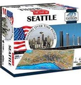 4D Cityscape Time 1100 pc 4D Seattle Puzzle
