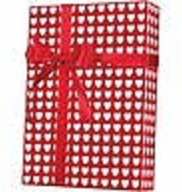 Celebrate  It Wrapping Paper Red with White Hearts