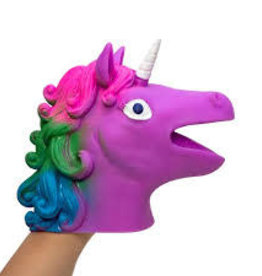 Schylling Unicorn Hand Puppet  Purple