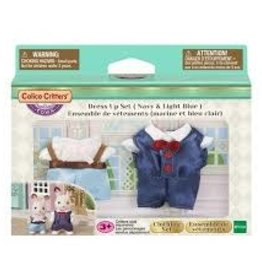 Calico Critters Dress Up Set Navy and Light Blue