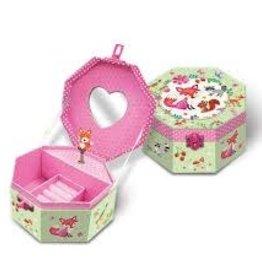 Hot Focus Musical Jewelry Box, Flower Critter