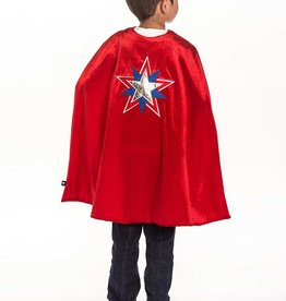 Little Adventures American Hero Cape and Mask set ages 3-8