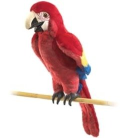 """Folkmanis 15"""" Scarlet Macaw Puppet"""