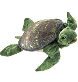 """Folkmanis 13"""" Sea Turtle Puppet"""