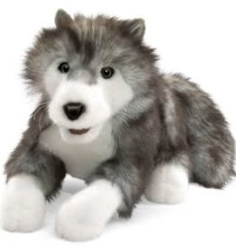 """Folkmanis 18"""" Timber Wolf Puppet"""