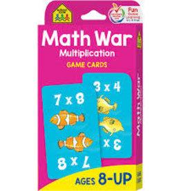 School Zone Math War Multiplication Cards