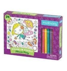 Mudpuppy Color In Fairy Puzzle 24 pc