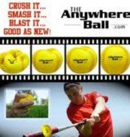 Anywhere Ball Anywhere 3'' Yellow Baseball (Pack of 6)