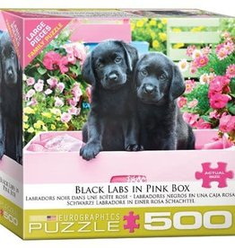 EuroGraphics Black Labs in Pink Box 500 PC