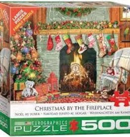 EuroGraphics Christmas by the Fireplace 500 PC Puzzle