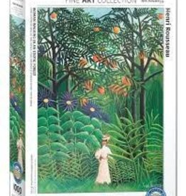 EuroGraphics Woman Walking in an Exotic Forest 1000 pc
