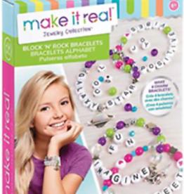 Make It Real Block N Rock Charm Bracelets