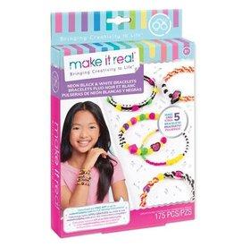 Make It Real Neon Black & White Bracelets