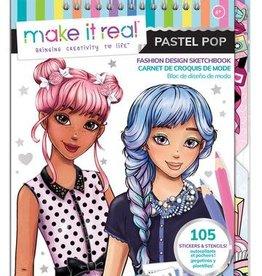 Make It Real Fashion Design Sketchbook: Pastel Pop