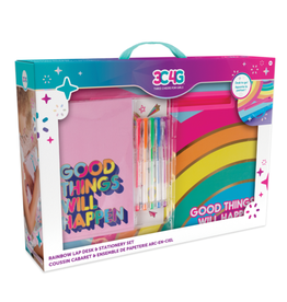 Make It Real Rainbow Lap Desk & Stationary