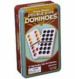 Pressman Double 9 Color Dot Dominoes