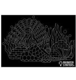 Imagination Starters Chalkboard Placemat Mermaid