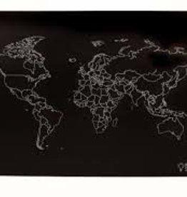 Imagination Starters Chalkboard Placemat World Map