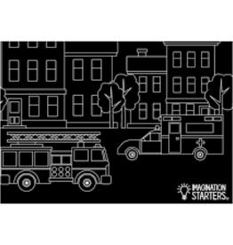 Imagination Starters Chalkboard Placemat Emergency Vehicle