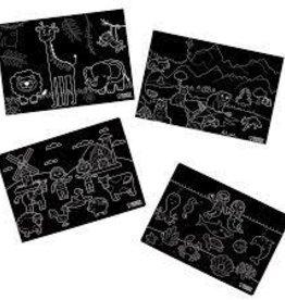 Imagination Starters Chalkboard Placemat 4 Set Animals