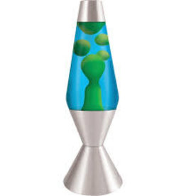 "Schylling Lava Lamp Blue Green 16.3"""