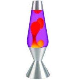 "Schylling Lava Lamp Purple Orange 16.3"""