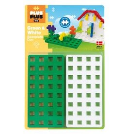 Plus-Plus Plus Plus Green and White Baseplate Duo