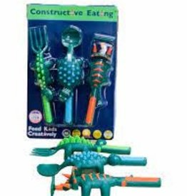 Constructive Eating Set of 3 Dino Utensils