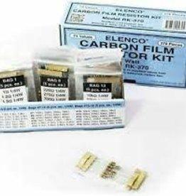 Elenco 370pc. 1/4 Watt Carbon Film Resistor Kit