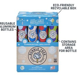 Bubble Tree 2 Liter Refillable Bubble Station with 4 Bottles 4 oz