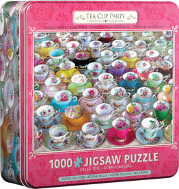 EuroGraphics Tea Cup Party - 1000 pc in Tin
