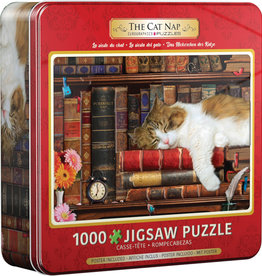 EuroGraphics Cat Nap- 1000 pc Jigsaw Puzzle in Tin