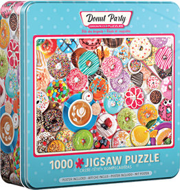 EuroGraphics Donut Party - 1000 pc Jigsaw Puzzle in Tin