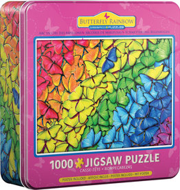 EuroGraphics Butterfly Rainbow- 1000 pc Jigsaw Puzzle in Tin