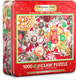 EuroGraphics Christmas Table - 1000 piece Puzzle in Tin