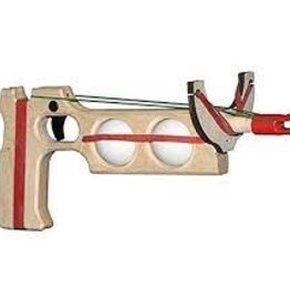 Magnum Ping Pong Ball Gun With Green Rubber Band Ammo