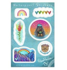 Amanda Rose Warren Rainbow Winter Sticker Sheet