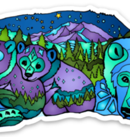 Alaska Wild and Free Polar Bear with Cubs Sticker