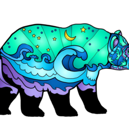 Alaska Wild and Free Big Dipper Ocean Bear Sticker