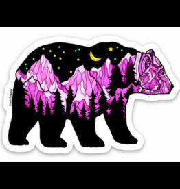 Alaska Wild and Free Big Dipper Pink Bear Sticker
