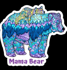 Alaska Wild and Free Momma Bear Sticker with Text