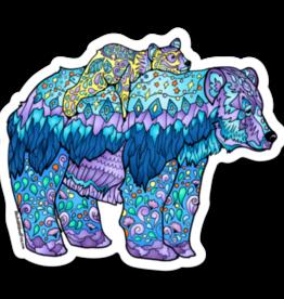 Alaska Wild and Free Momma Bear Sticker