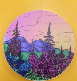 Alaska Wild and Free Fireweed Field Sticker