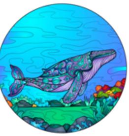 Alaska Wild and Free Humpback Whale Under the Sea Sticker