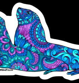 Alaska Wild and Free Stellar Sea Lions Sticker