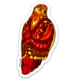 Alaska Wild and Free Red Tailed Hawk Sticker