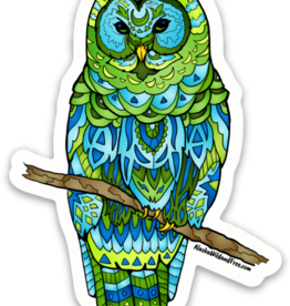Alaska Wild and Free Barred Owl Alaska Sticker