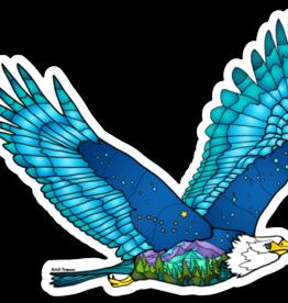 Alaska Wild and Free Mountain Flying Eagle