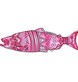 Alaska Wild and Free Pink King Salmon Sticker