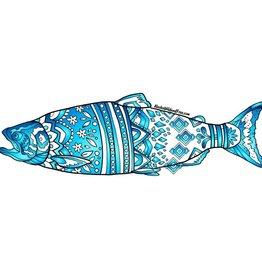 Alaska Wild and Free Blue King Salmon Sticker